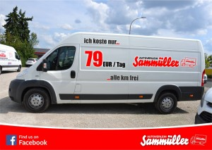 alle km frei nur 79 Euro /Tag Jetzt Fiat Ducato (L5) reservieren und kräftig sparen!