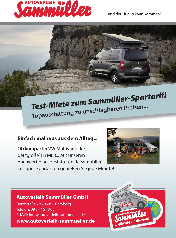 Urlaub im Wohnmobil günstig und cool - Autoverleih Sammüller